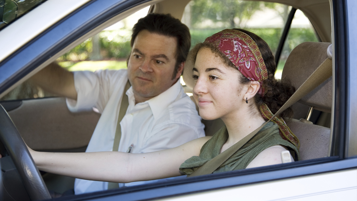 Teen driver with parent